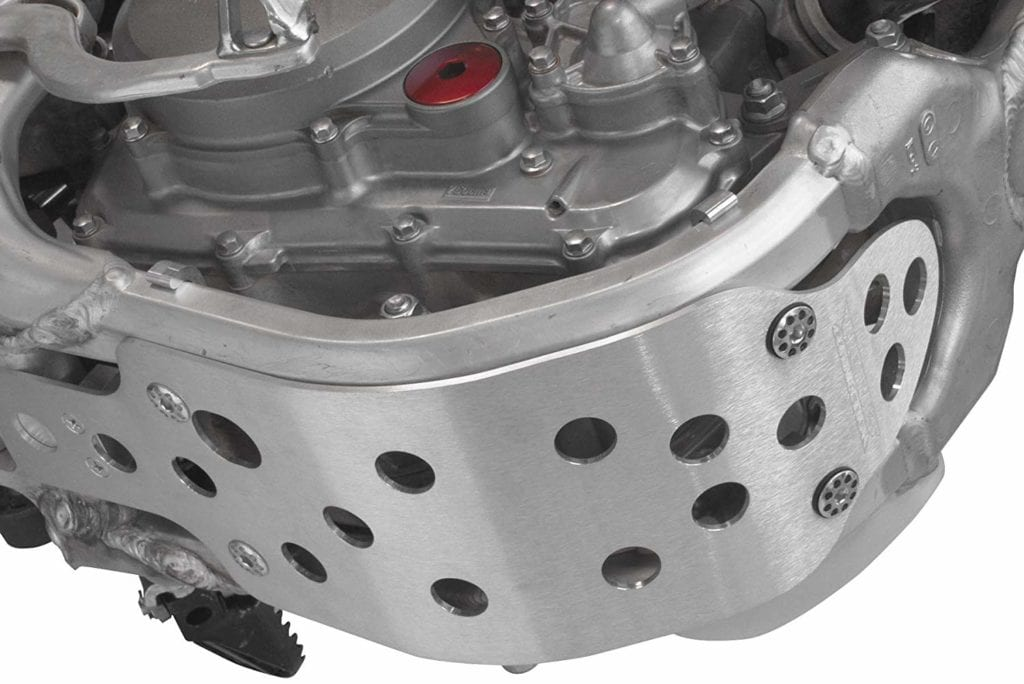 The skid plate is one of the most important dirt bike accessories to have.