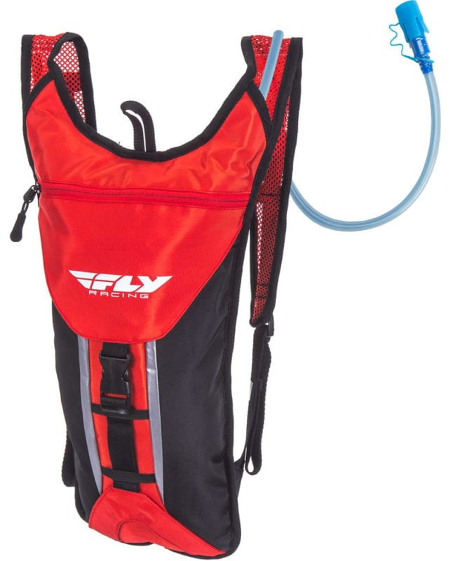 A hydration pack is essential for riding in the sand.
