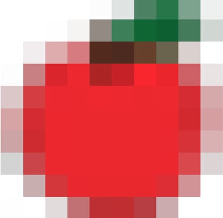 A low resolution image is pixelated.