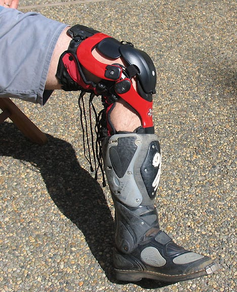 Make sure your moto boots fit with knee braces if you wear them.