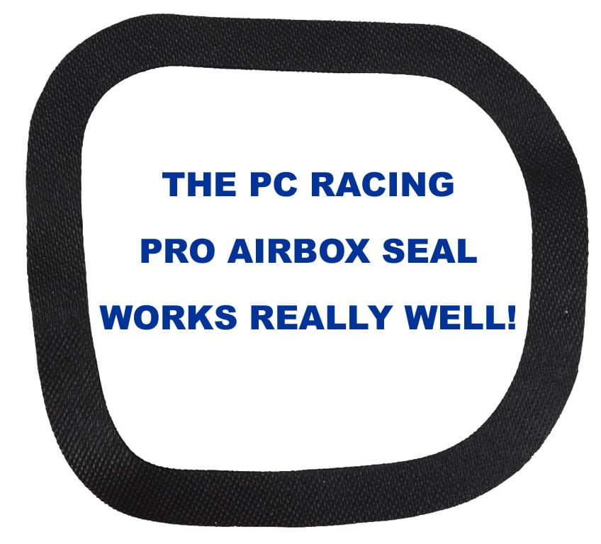 An airbox seal works better than grease in my opinion.