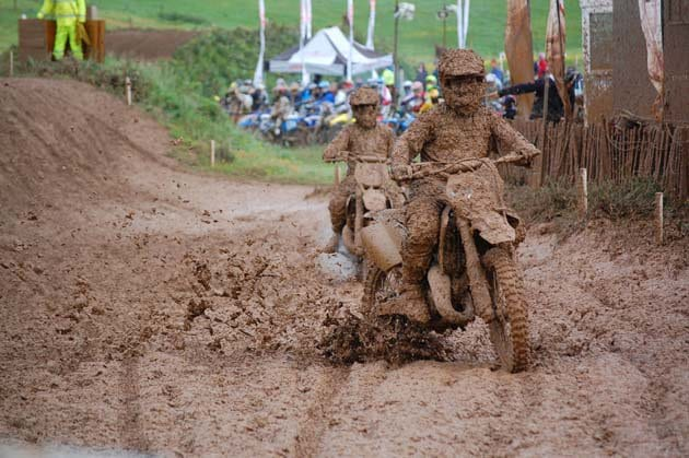 Riding in mud makes it hard to see through dirt bike goggles.
