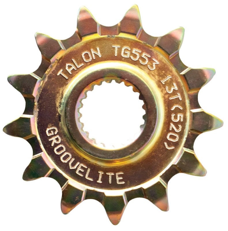 The Talon front sprocket is best for riding in sand.