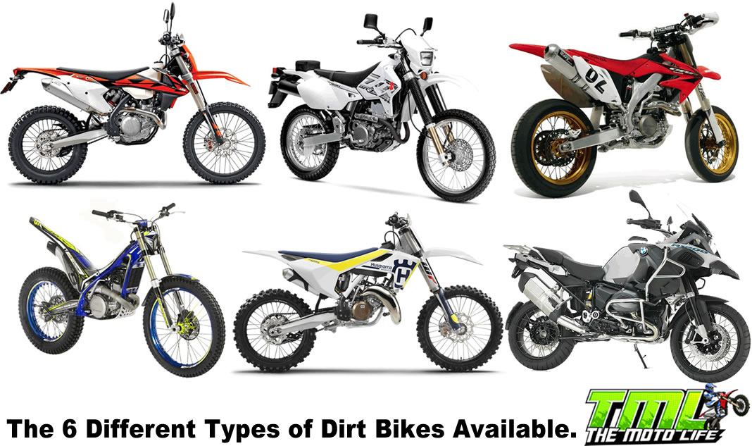 different types of dirt bikes