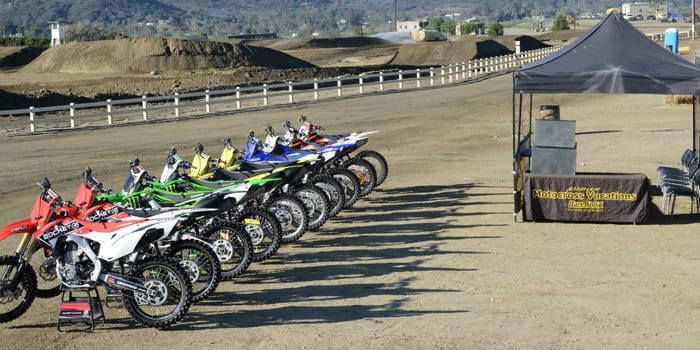 race socal mx training bike rentals.