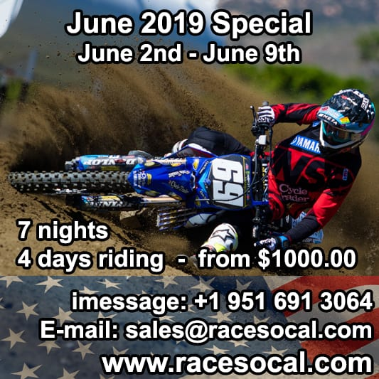 race socal mx training special deals.