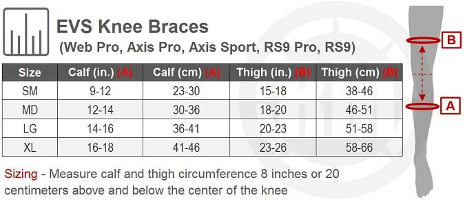 motocross knee braces. EVS Axis Pro fitting guide.