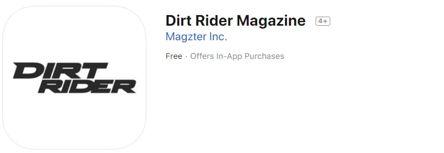 dirt bike apps - dirt rider magazine app