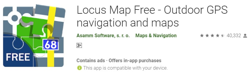dirt bike apps - locus map pro