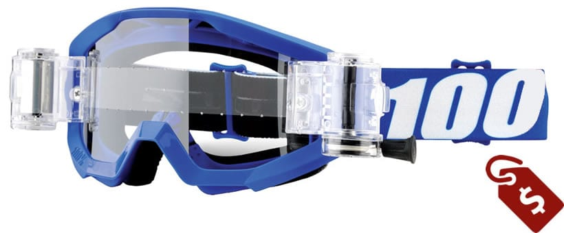 100%MX Goggle Review. 100% Strata SVS Roll-Off Goggle