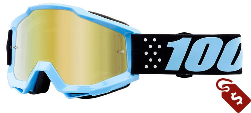 100% mx goggle review. 100% Youth Accuri Goggle