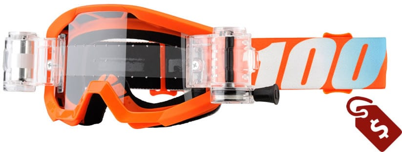 100% mx goggles review. 100% Youth Strata SVS Roll-Off Goggle