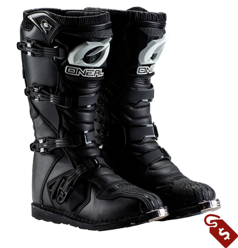 Wide motocross boots. O'Neal Racing Rider Boots