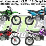 The Coolest KLX 110 Graphics Kits on the Web [Monster Energy, Rockstar, Troy Lee Designs, FMF].