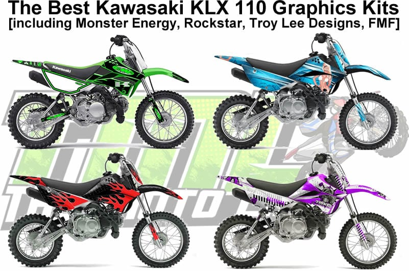 The Coolest KLX 110 Graphics Kits Online [Monster, Rockstar