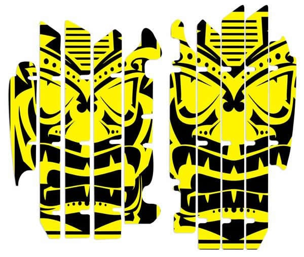 dirt bike radiator louver graphics. nihilo concepts rmz
