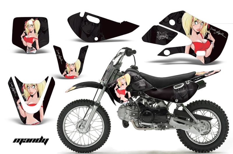 kawasaki klx 110 graphics kit black