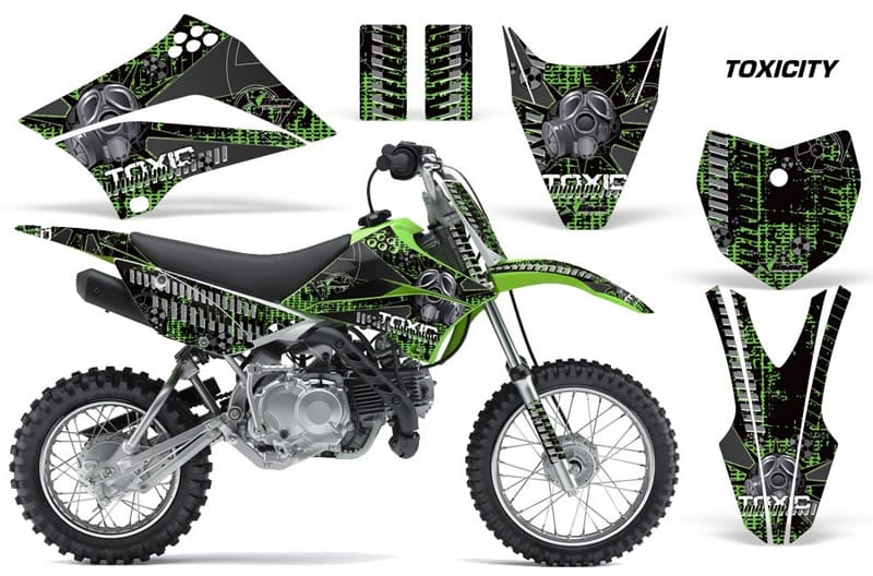 kawasaki klx 110 graphics kit green