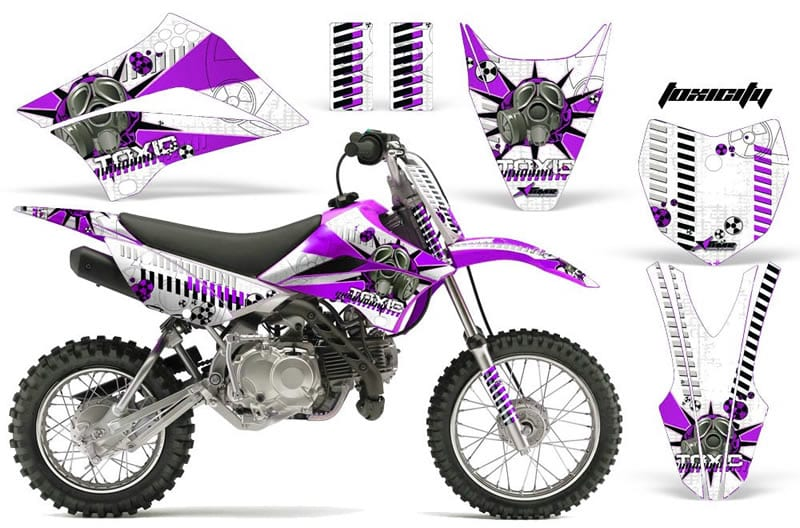 kawasaki klx 110 graphics kit purple