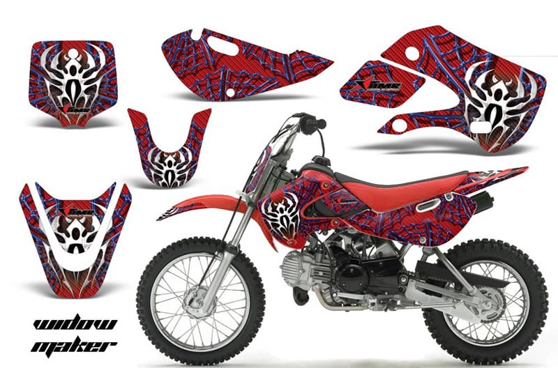 kawasaki klx 110 graphics kit red