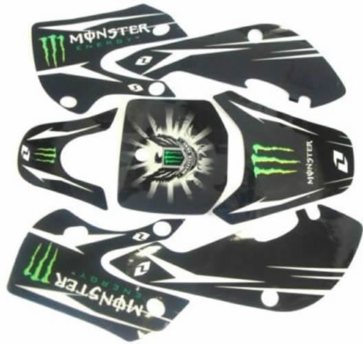 kawasaki klx 110 monster energy black graphics