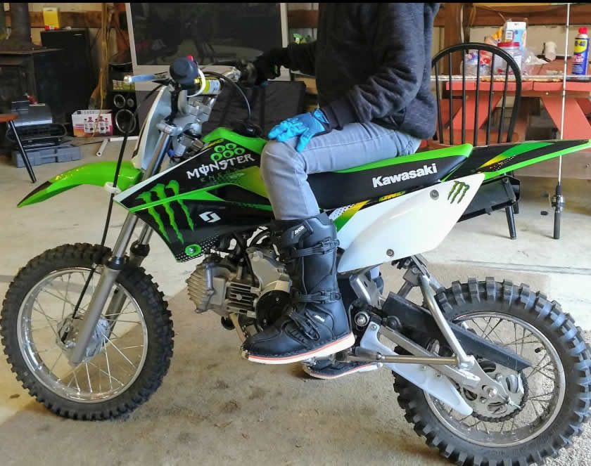 kawasaki klx 110 monster energy graphics kit