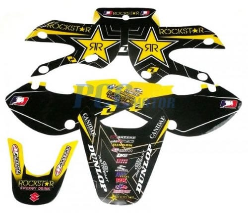 klx 110 sticker kit rockstar energy
