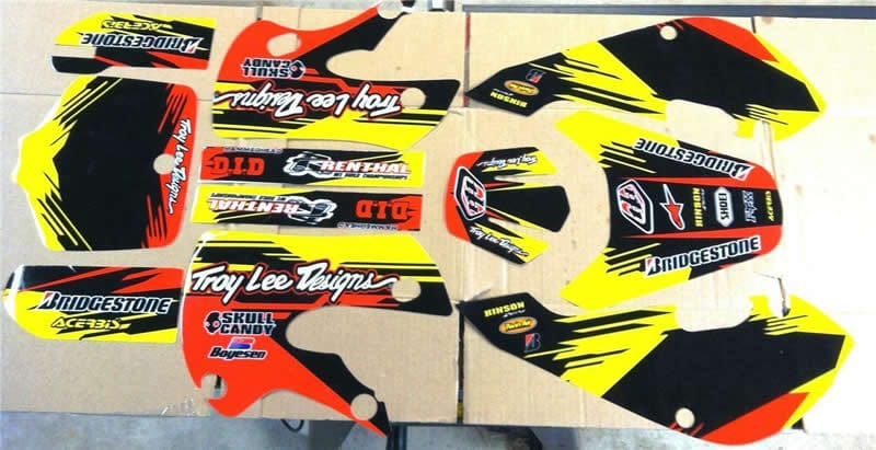 klx 110 troy lee graphics kit