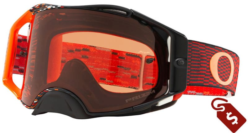 orange and black dirt bike gear. oakley airbrake