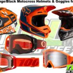 The Best Orange and Black Dirt Bike Helmets and Goggles for 2019 [O'Neal, Fox, Bell, 100%, Oakley]