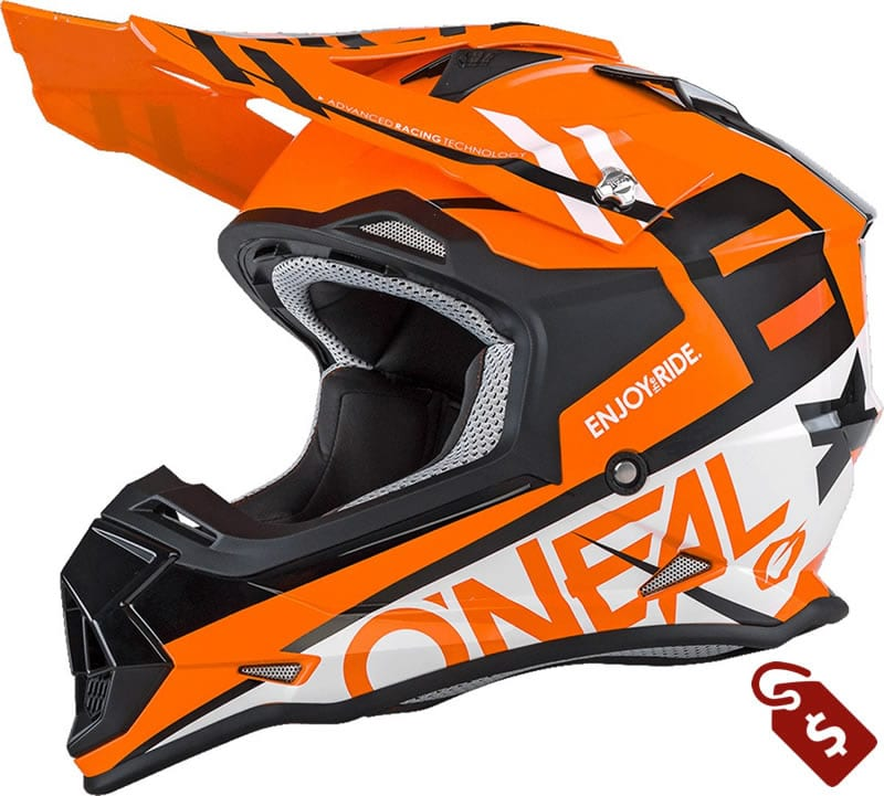 orange and black dirt bike helmets. O'Neal 2SERIES Helmet SPYDE