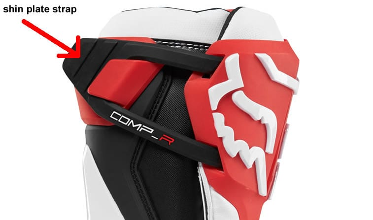 wide calf motocross boots. Fox Racing Comp R Boots. shin plate strap