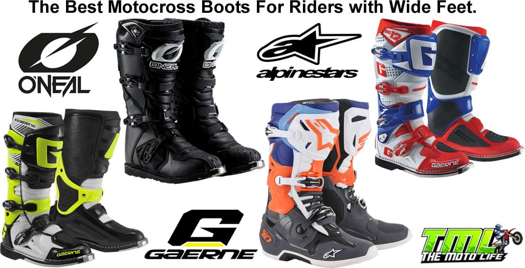 wide motocross boots wide feet