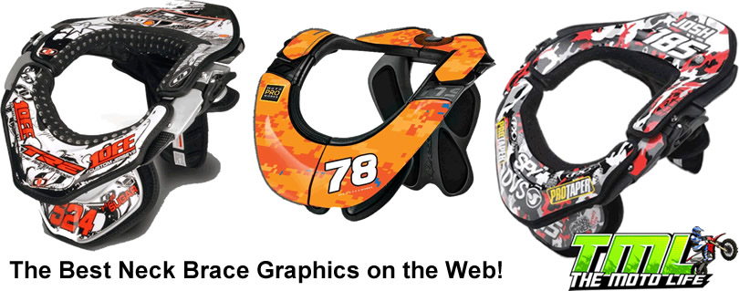 neck brace graphics leatt atlas evs alpinestars